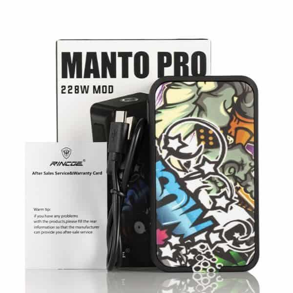 Manto Pro 228W Box Mod by Rincoe | บุหรี่ไฟฟ้า น้ำยาบุหรี่ไฟฟ้า Pod System ราคาถูก Electric cigarette ดีที่สุด